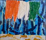 Costa D'Avorio: smalto su tela e legno cm.140x160