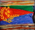 Eritrea: smalto su tela e legno cm.140x160