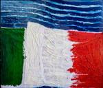 Italia:smalto su tela e legno cm.140x160
