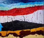 Yemen:smalto su tela e legno cm.140x160