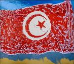 Tunisia:smalto su tela e legno cm.140x160