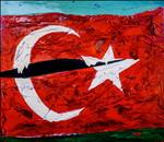 Turchia:smalto su tela e legno cm.140x160