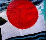 Giappone:smalto su tela e legno cm.140x160